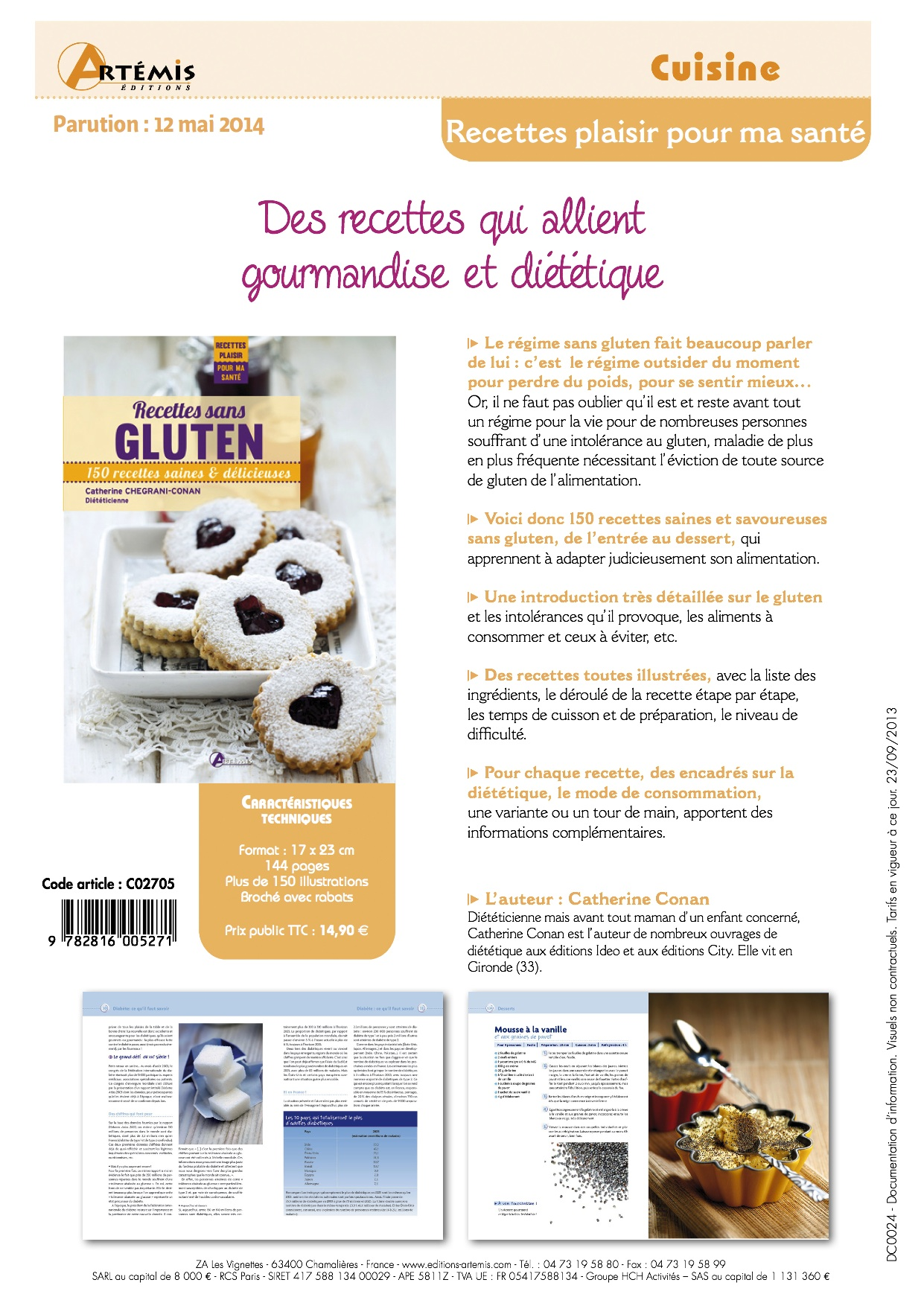 recettes sans gluten fiche