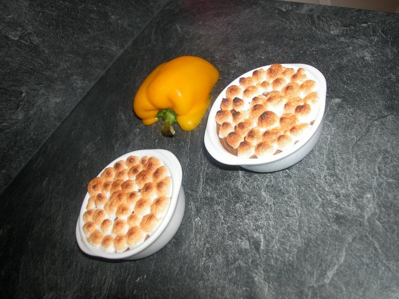 Crème poivron jaune meringuée